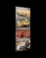 1 Adhésif Vitrine - Snacking