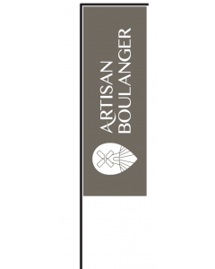 Lot : Voile + Mât 'Artisan Boulanger' 180x60cm