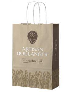 Lot de 250 - Cabas Artisan Boulanger 25x15x41