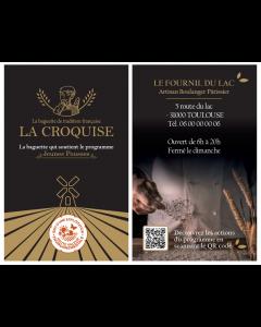 Cartes de visite - La Croquise (R°/V° - Perso)