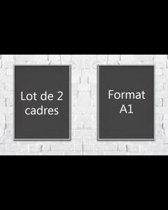 Lot de 2 - Cadres clic A1