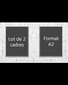 Lot de 2 - Cadres clic A2