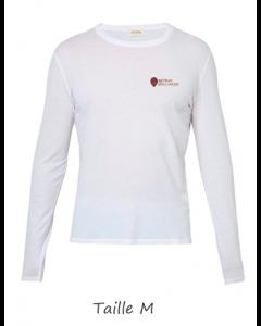 1 T-shirt Blanc Dame (manches longues) TM