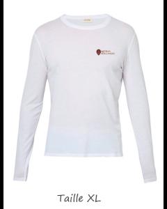 1 T-shirt Blanc Dame (manches longues) TXL