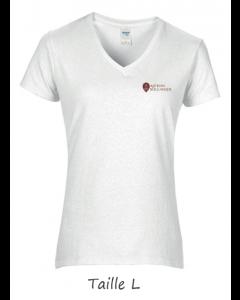 1 T-shirt Blanc Dame (manches courtes) TL