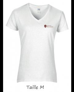 1 T-shirt Blanc Dame (manches courtes) TM
