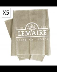 Lot de 5 - TOILES DE COUCHE LEMAIRE