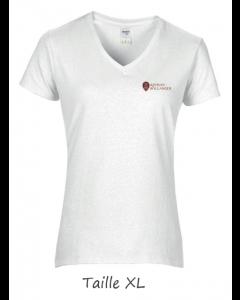 1 T-shirt Blanc Dame (manches courtes) TXL